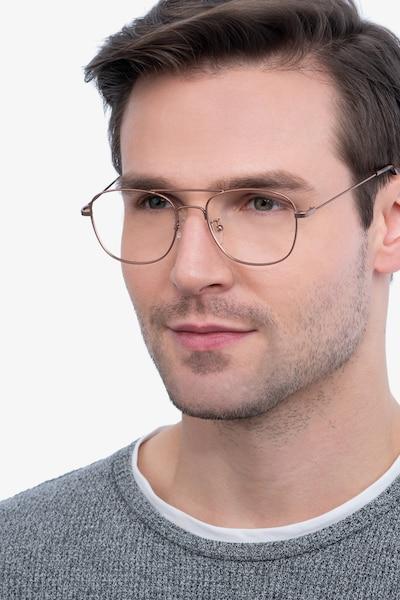 Courser Rose Gold Metal Eyeglass Frames for Men from EyeBuyDirect