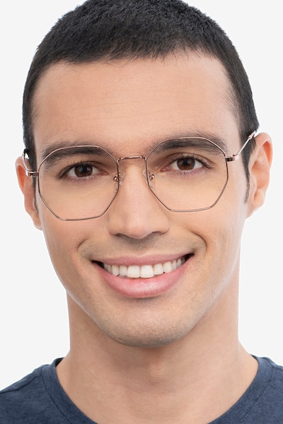 Octave Rose Gold Metal Eyeglass Frames for Men from EyeBuyDirect