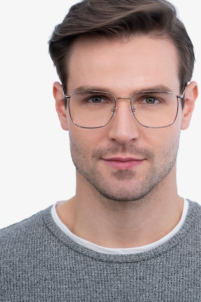 Reason Rose Gold Metal Eyeglass Frames for Men from EyeBuyDirect