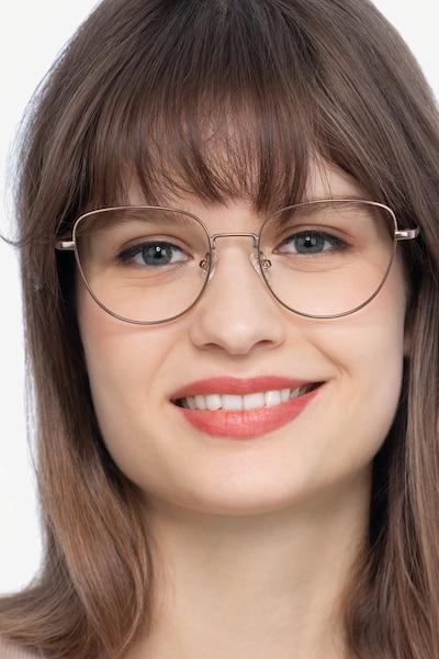 Clotilde Rose Gold Metal Eyeglass Frames for Women from EyeBuyDirect