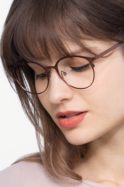 Emma Brown Metal Eyeglass Frames for Women from EyeBuyDirect