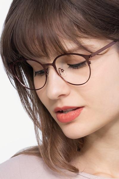 Emma Marron Métal Montures de Lunettes pour Femmes d'EyeBuyDirect