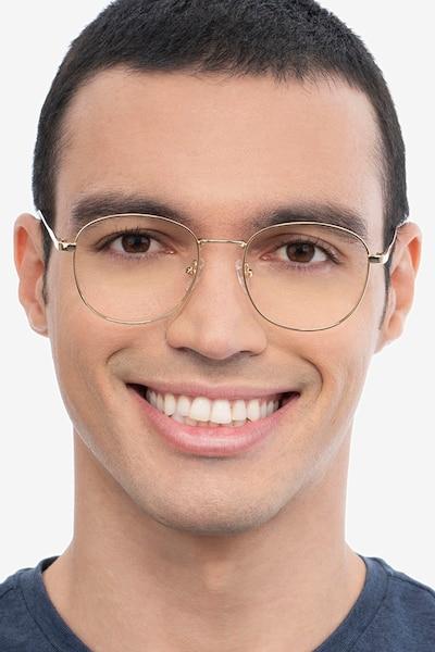 Vantage Gold Metal Eyeglass Frames for Men from EyeBuyDirect
