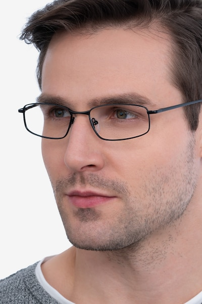 Destined Black Metal Eyeglass Frames for Men from EyeBuyDirect
