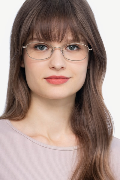 Betty Gold Metal Eyeglass Frames for Women from EyeBuyDirect, Front View