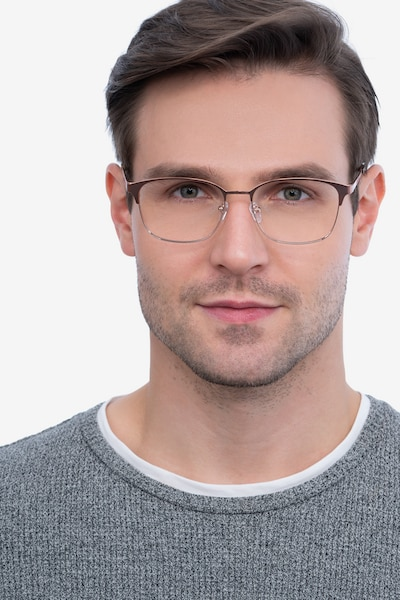 Chambery Rose Gold Metal Eyeglass Frames for Men from EyeBuyDirect