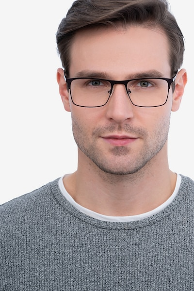 Vigo Coffee Metal Eyeglass Frames for Men from EyeBuyDirect, Front View