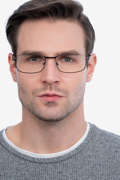 Madon Coffee Metal Eyeglass Frames for Men from EyeBuyDirect, Front View