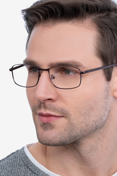 Madon Coffee Metal Eyeglass Frames for Men from EyeBuyDirect