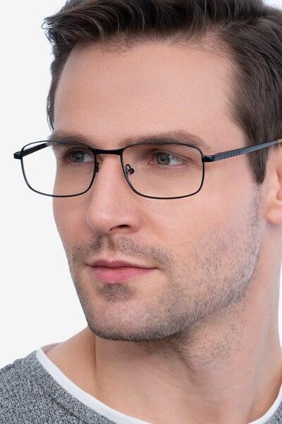 Madon Black Metal Eyeglass Frames for Men from EyeBuyDirect