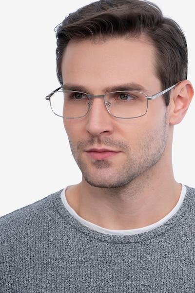 Madon Silver Metal Eyeglass Frames for Men from EyeBuyDirect