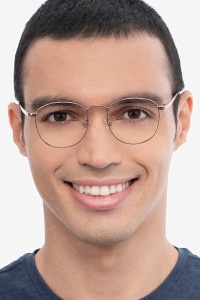 St Michel Rose Gold Metal Eyeglass Frames for Men from EyeBuyDirect