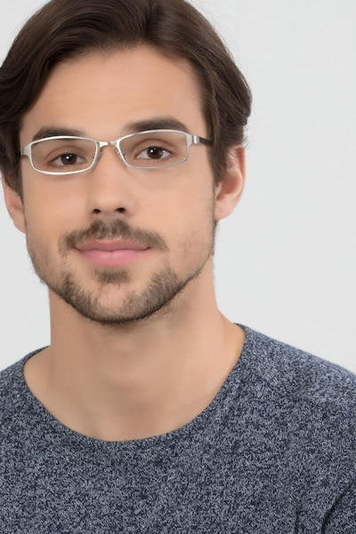 Johanna  Gunmetal  Metal Eyeglass Frames for Men from EyeBuyDirect, Front View
