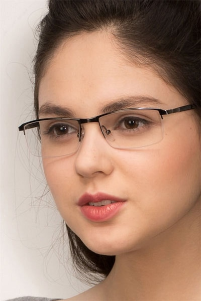 Mel  Gunmetal  Metal Eyeglass Frames for Women from EyeBuyDirect