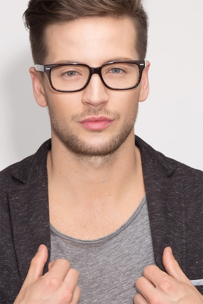 John Brown Acetate Eyeglass Frames for Men from EyeBuyDirect, Front View