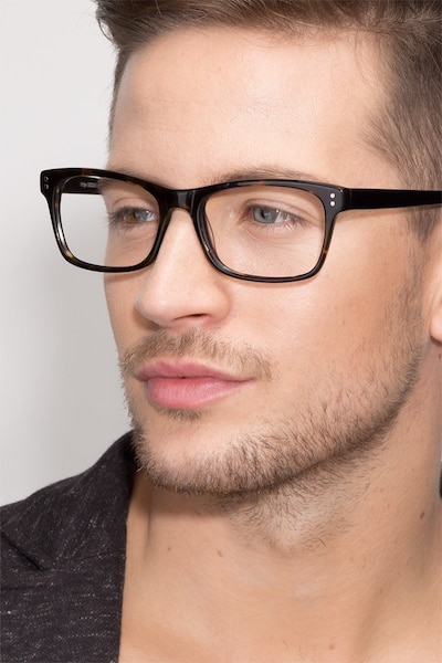 Ridge Tortoise Acetate Eyeglass Frames for Men from EyeBuyDirect