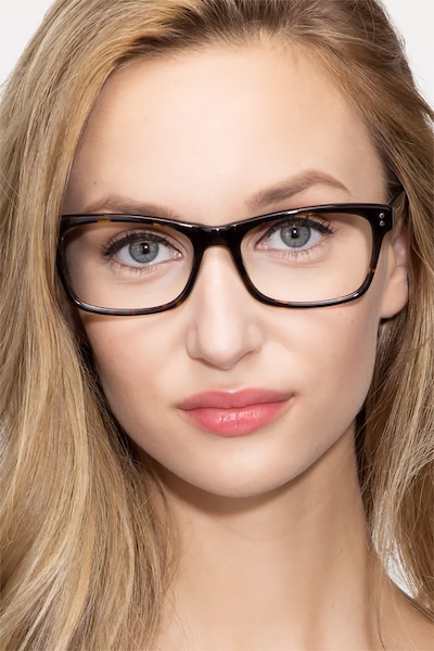 Ridge Tortoise Acetate Eyeglass Frames for Women from EyeBuyDirect