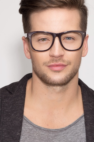 Myrtle Purple Plastic Eyeglass Frames for Men from EyeBuyDirect