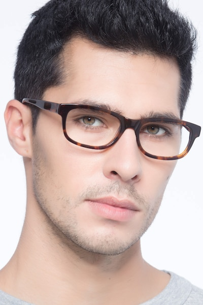 Presley Brown Acetate Eyeglass Frames for Men from EyeBuyDirect