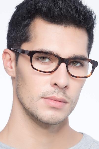 Presley Marron Acétate Montures de Lunettes pour Hommes d'EyeBuyDirect