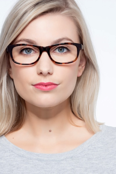 Presley Brown Acetate Eyeglass Frames for Women from EyeBuyDirect, Front View