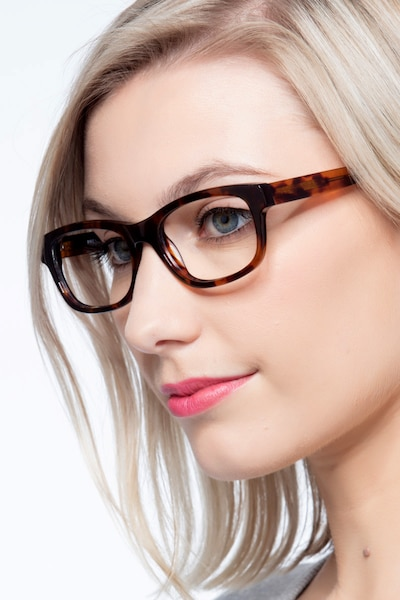 Presley Brown Acetate Eyeglass Frames for Women from EyeBuyDirect