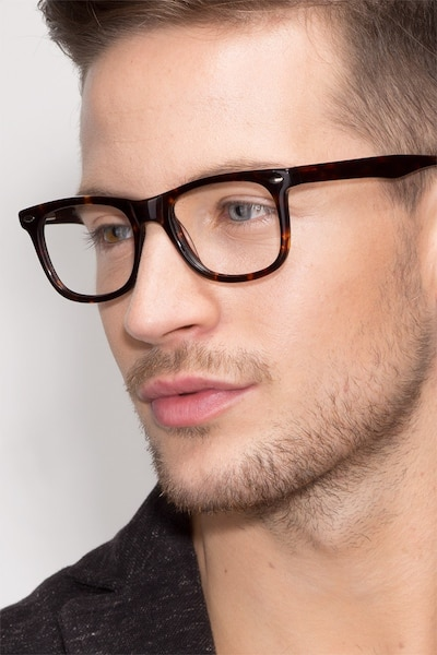 Sam Tortoise Acetate Eyeglass Frames for Men from EyeBuyDirect