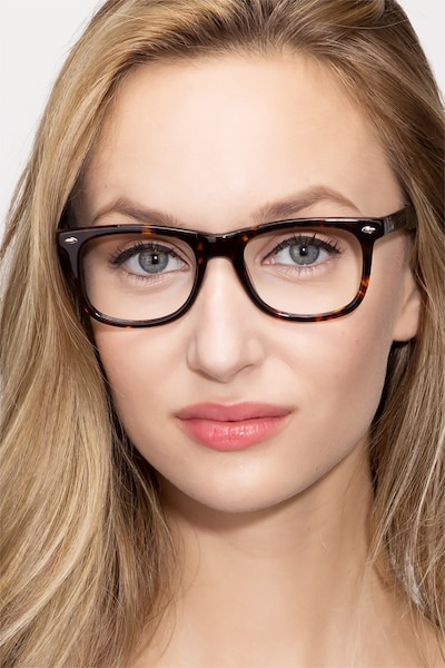 Sam Tortoise Acetate Eyeglass Frames for Women from EyeBuyDirect