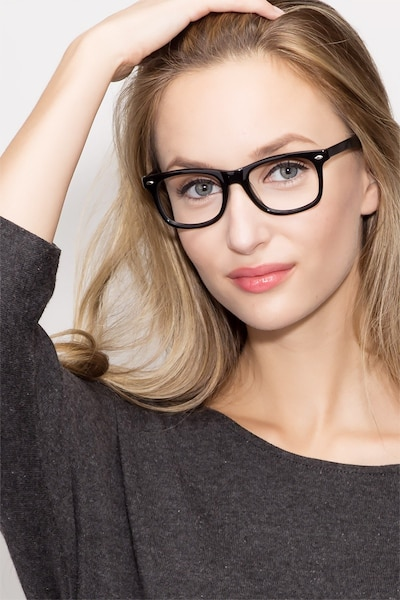 Sam Black Acetate Eyeglass Frames for Women from EyeBuyDirect