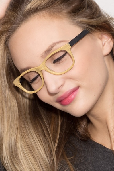 Panama Wood Wood-texture Eyeglass Frames for Women from EyeBuyDirect