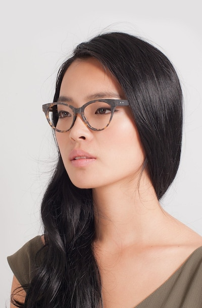 Jane Birkin Brown/Tortoise Acetate Eyeglass Frames for Women from EyeBuyDirect