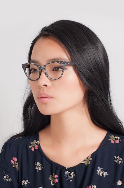 Jane Birkin Gray Tortoise Wood-texture Eyeglass Frames for Women from EyeBuyDirect