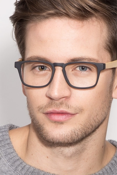 Lincoln Black Acetate Eyeglass Frames for Men from EyeBuyDirect