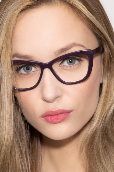 Charlotte Purple Acetate Eyeglass Frames for Women from EyeBuyDirect