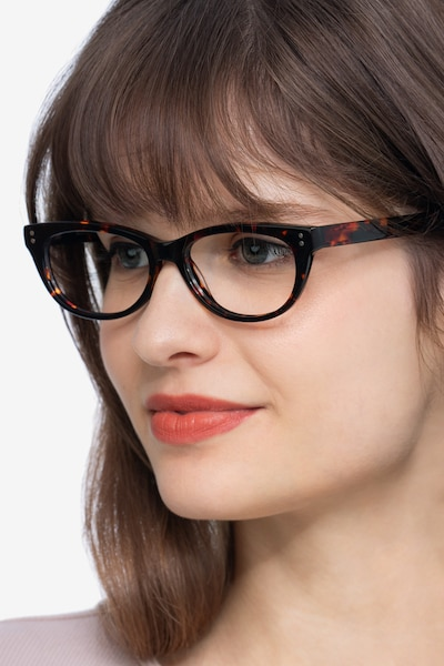 Monica Brown/Tortoise Acetate Eyeglass Frames for Women from EyeBuyDirect