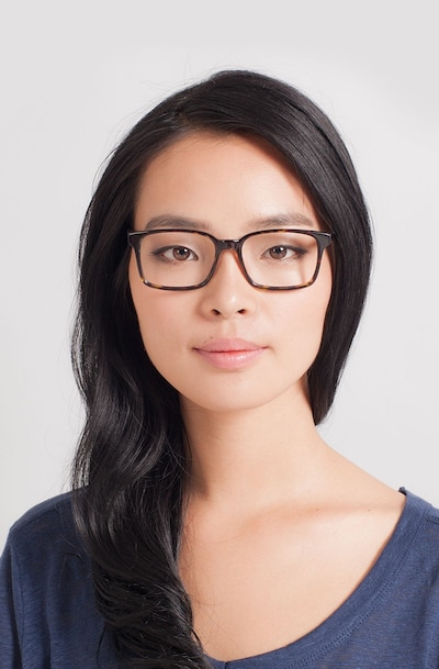 Claudia Brown/Tortoise Acetate Eyeglass Frames for Women from EyeBuyDirect, Front View
