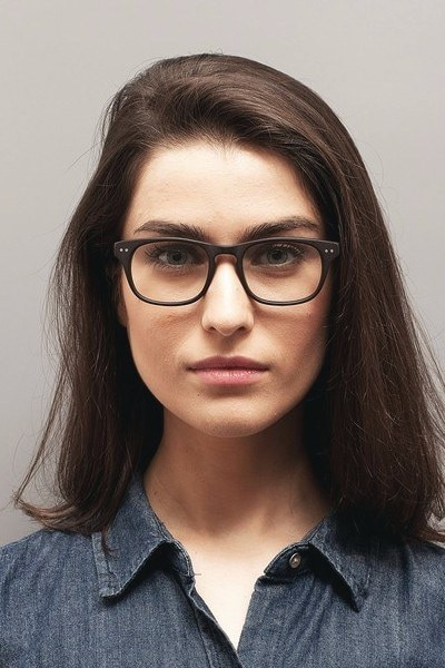 Carla Coffee Acetate Eyeglass Frames for Women from EyeBuyDirect, Front View