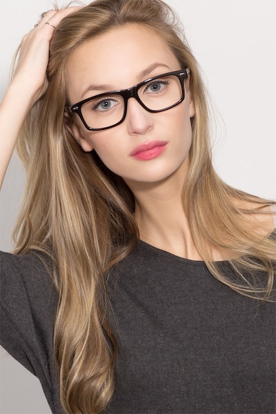 Nicola Brown/Tortoise Acetate Eyeglass Frames for Women from EyeBuyDirect, Front View