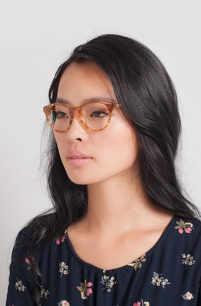 Stanford Brown/Tortoise Acetate Eyeglass Frames for Women from EyeBuyDirect