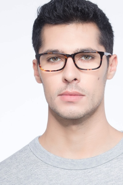 Pat Brown/Tortoise Acetate Eyeglass Frames for Men from EyeBuyDirect