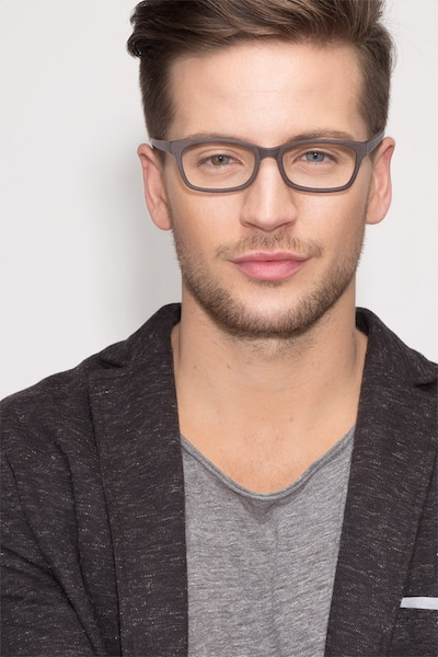 Mesquite  Coffee Acetate Eyeglass Frames for Men from EyeBuyDirect, Front View
