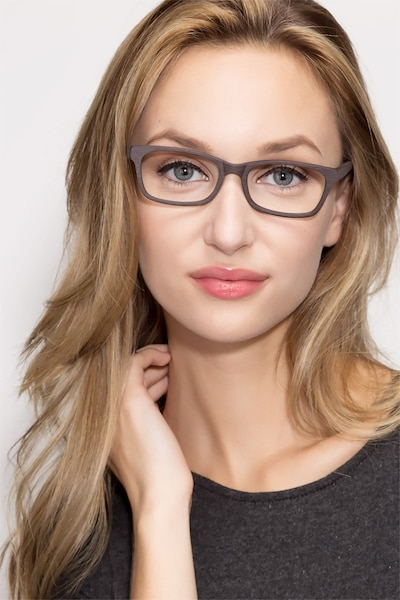 Mesquite  Coffee Acetate Eyeglass Frames for Women from EyeBuyDirect, Front View