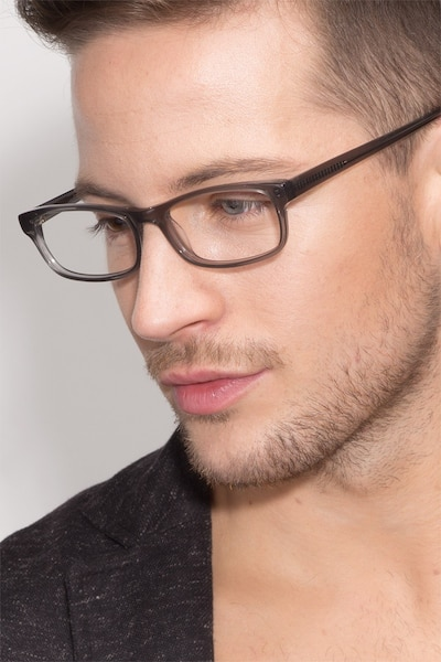 Opal Gray Acetate Eyeglass Frames for Men from EyeBuyDirect