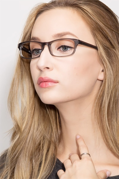 Opal Gray Acetate Eyeglass Frames for Women from EyeBuyDirect, Front View