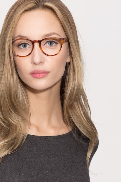 Notting Hill Tortoise Acetate Eyeglass Frames for Women from EyeBuyDirect, Front View