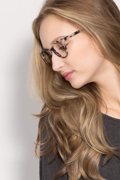 Notting Hill Ivory/Tortoise Acetate Eyeglass Frames for Women from EyeBuyDirect, Front View