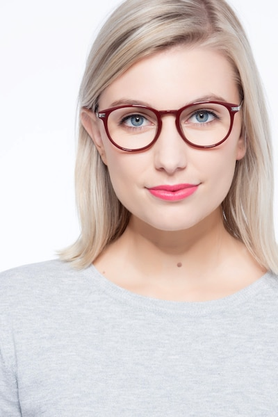 Muse Red Plastic Eyeglass Frames for Women from EyeBuyDirect