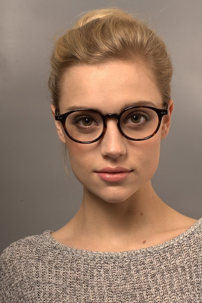 Sophie Tortoise Acetate Eyeglass Frames for Women from EyeBuyDirect, Front View