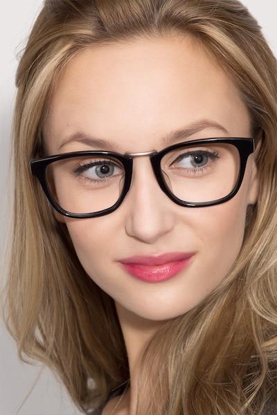 Dandy Noir Acétate Montures de Lunettes pour Femmes d'EyeBuyDirect