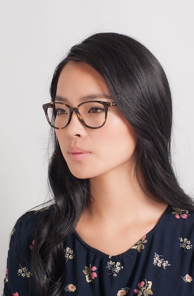 Hepburn Tortoise Acetate Eyeglass Frames for Women from EyeBuyDirect